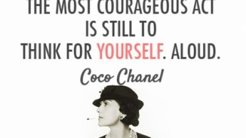 Quote of the Day: Coco Chanel on Thinking for Yourself