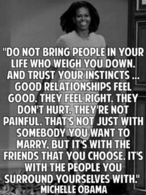 Quote of the Day: Michelle Obama on Surrounding Yourself with Positivity