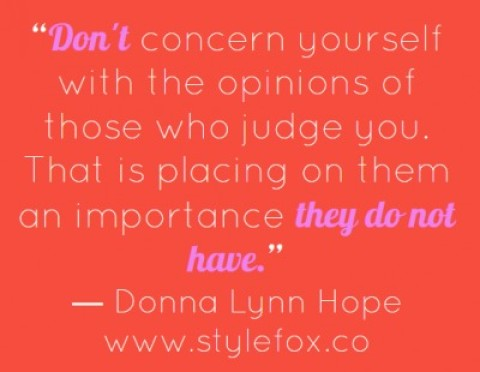 Quote of the Day: Donna Lynn Hope on Ignoring Negative Opinions