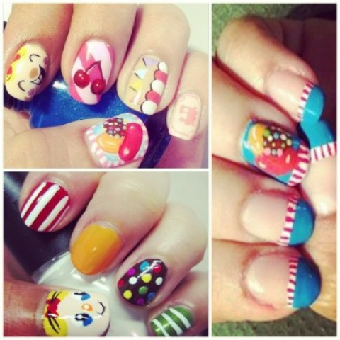 These Candy Crush Nails Make Our Inner Nerd Weep with Joy