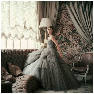 Mark Shaw Editioned Photo-Sophie Malgat in Apartment of Christian Dior, 1953