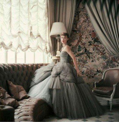 Sophie Malgat in Apartment of Christian Dior, 1953