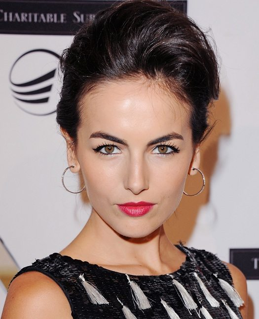 Camilla Belle's gorgeous eyebrows at the Andrea Bocelli Foundation Gala. Credit: Getty Images