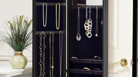 Genius: This Space Saving Over-the-Door Jewelry Armoire + Mirror is Perfection