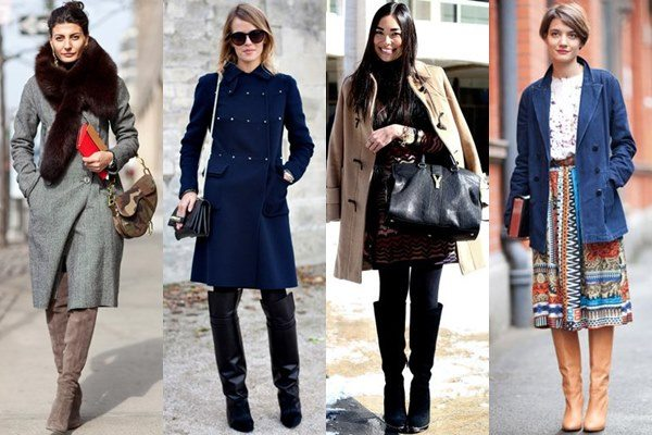 Easy-wearing knee-high-boot looks.