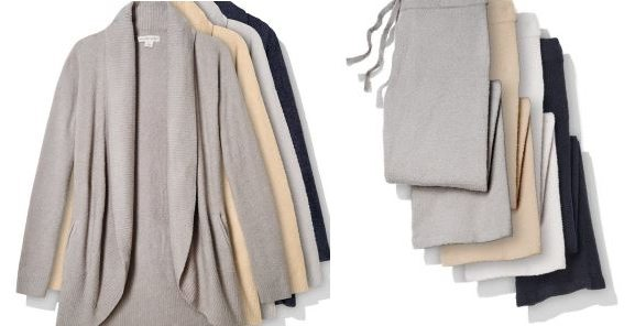 Barefoot Dreams Bamboo Chic Lite Circle Cardi and Pants, $115 each (click to shop)
