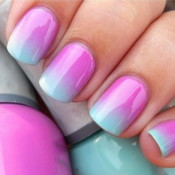 A pastel ombre effect is one of the best ways to get a salon look at home. credit: hipsterwall.com