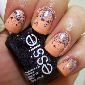 Try a reverse french manicure using chunky colorful glitter polish. credit: lusterlacquer.blogspot.com