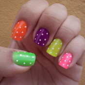 Use a toothpick to create this fun polka dot design. credit: waloosh.com